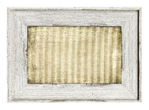 Wood painted frame isolated on white Stock Images