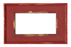 Wood painted frame isolated on white Royalty Free Stock Photo