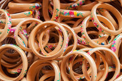 Wood painting bangle Royalty Free Stock Photography