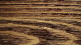 Wood painting with a brush with the brown color stock video footage
