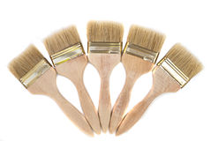 Wood painting brush Stock Image