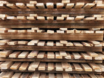 Wood palett Arkivbild