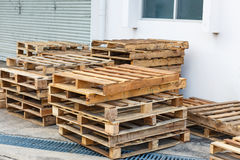 Wood palette for shipping Stock Image