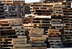 wood paletter Royaltyfri Fotografi