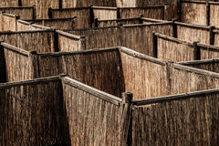 Wood Palisade Maze Stock Photography