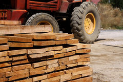 Wood Pallet. Wooden play with transport home Royalty Free Stock Image