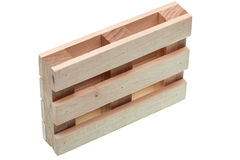 The wood pallet isolated. Stock Photo