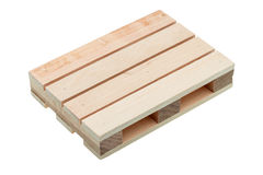 The wood pallet isolated. Royalty Free Stock Image