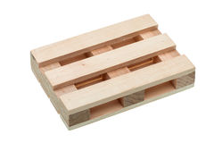 The wood pallet isolated. Royalty Free Stock Photography