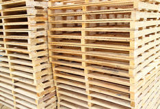 Wood pallet for raw material Royalty Free Stock Photos