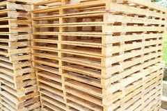 Wood pallet for raw material Stock Photography