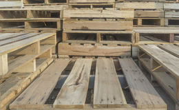 Wood pallet. From side view Stock Image