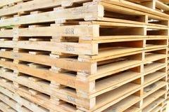 Wood pallet Stock Photo