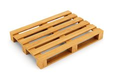 Wood pallet. Wooden pallet isolated on white background Royalty Free Stock Images