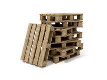 Wood Pallets Stock Photo