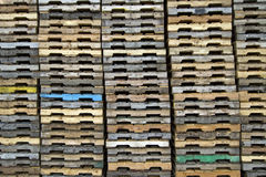Wood Pallets Background Stock Photography