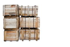 Wood Pallets - crates for transportation - Strong cargo security Royalty Free Stock Image