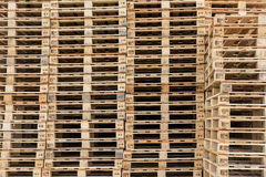Wood pallets stacked Stock Photos