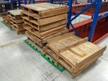The Wood Pallets Stock Images