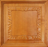 Wood panel. Background with carved detail Stock Images