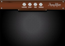 Wood panel amplifier background Stock Images