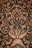 Wood panel carving Royalty Free Stock Photo