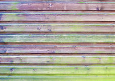 Wood panel fence Stock Photo