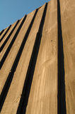 Wood Panel Fencing Stock Image