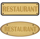 Wood panel of restaurant Royalty Free Stock Photo