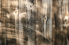 Wood Panel Texture. Close up of wood paneling texture on old barn Royalty Free Stock Photos