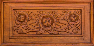Wood paneling, carvings Stock Photos