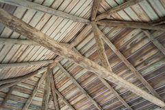 Wood paneling in dome royalty free stock photos