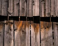 Wood paneling the threshing floor Royalty Free Stock Images