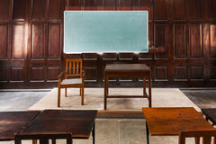 Wood Panelled Classroom Royalty Free Stock Photos