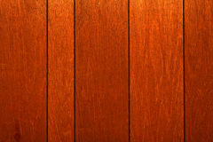 Wood panelling. Retro 70's (seventies') wood panelling with deep brown color Stock Photo