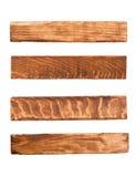 Wood panels. Isolated on white Royalty Free Stock Images
