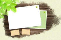 Wood and Paper for background and text Royalty Free Stock Images