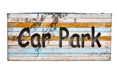 Wood parking sign Stock Image