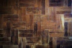Wood parquet floor Stock Images