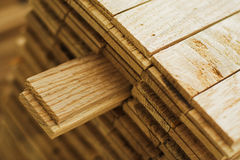 Wood parquet piece Stock Images