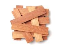 Wood Parquet Pieces Stock Photo
