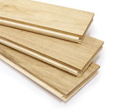 Wood. Parquet on white isolated Royalty Free Stock Images