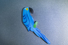 Wood parrot Stock Images