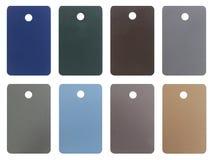 Wood pastel tone tag isolated on white background Stock Image