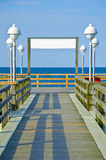 Wood path to sea on Usedom island, Germany Royalty Free Stock Image