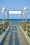 Wood path to sea on Usedom island, Germany royalty free stock image