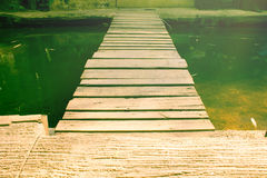 Wood path way on water. Stock Photography