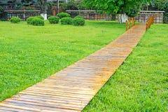 Wood pathway Stock Photo