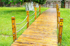 Wood pathway Stock Images