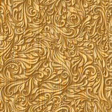 Wood pattern floral Royalty Free Stock Photography